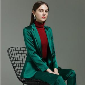 Jack und Hosenanzug Frauenbüroabnutzungsfrauen Business-Anzug Berufsbekleidung Blazer 4XL 5XLOversized Hosen