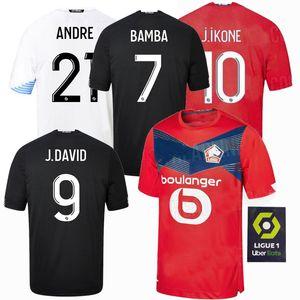 2020 2021 Lille OSC Fußball-Trikots Yilmaz R.LEAO Xeka BAMBA J.David zu Hause weg 20 21 Männer und Kinder-Fußballhemd