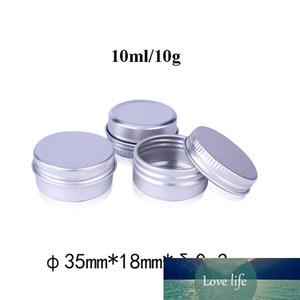 100pcs 10g Aluminum Tin Jars, Metal 10ml Empty Cosmetic Face Care Eye Cream Lip Balm Gloss Packaging