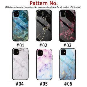 Yeni Moda Mermer Temperli Cam Geri Shell iPhone 11 Pro için Max Darbeye Kalkan Cep Telefonu Koruma iPhone 6 7 8 xs Max XR
