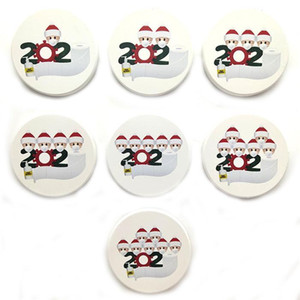 DHL Ship Fridge Magnets Ceramics 2020 Snonman Santa Deer Christmas Celebrity Party Favors For Home Decor FY4312
