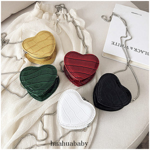 High Quality Women Heart-shaped Mini Shoulder Bags Ladies Chains Women Messenger Bags PU Leather Female Designer Crossbody Bag