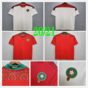 2020 2021 Morocco Soccer Jerseys ZIYECH BENATIA EL AHMADI BOUTAIB BOUSSOUFA BELHANDA BOUFAL MAZRAOUI Custom 20 21 Home Away Football Shirts