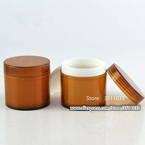 Pacote de 12PCS 100g de alta qualidade de creme Jar Plastic Cosmetic Container Âmbar Máscara 100ml garrafa grande volume