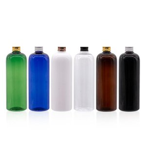 500ml Empty Plastic Cosmetic Container Aluminum Screw Cap Shampoo Washing Package Bottles 500g Liquid Soap Lotion Bottle Perfume
