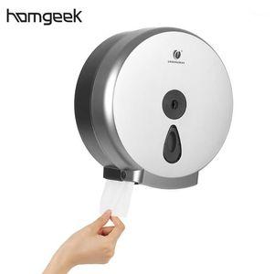 Wall-mounted Bathroom Tissue Dispenser Round Paper Towel Holder Paper Towel Dispenser Storage Box for Big Roll1