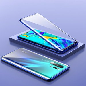 Magnetic Adsorption Metal Case For Huaweip30 P40 P20 Mate40 20 30 Lite Pro P40e Double Sided Glass Magnet Case For Honor10 30 H jllyMk