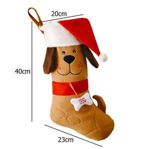 Рождественские украшения чулки Санта-Клаус Носок подарок Детская конфета сумка рождественских деревьев кулонные орнаменты для дома