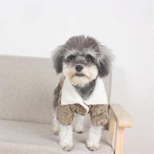 Inverno Addensare il modello Bichon Cappotti Full Letter Jacquard Chihuahua Giacche da esterno Teddy Caldo Capispalla calda Abbigliamento