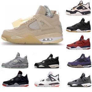 الجديدة أعلى جودة الأبيض كوس الشراع الرجال Jumpman 4 فون 4S أحذية كرة السلة ترافيس سكوتس صبار جاك كول رمادي أحذية نسائية مدرب حجم 36-46