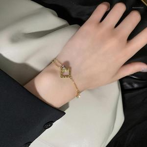 Jewelry Rose Gold Stainless Steel Roman numerals Bracelets & Bangles Female Charm Bracelet For Women1