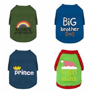 Vêtements pour animaux de compagnie chien de Noël épaissie Sweat-shirt de coton Christmas Petit Pull chaud Pull chaude Lettre imprimé Chiot Chiot Pet Pet Fournitures Sea GWC5102