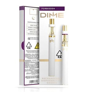 Newest Dime Disposable Vape Pen 350mAh Thick Oil Vaporizer Device with 0.5ml Cartridge 10 Stains with Retail Box