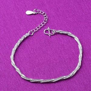 cavigliera argento ornamento regalo semplice piccolo braccialetto corda di canapa abbigliamento Bracciale abbigliamento corda di canapa delle donne popolari