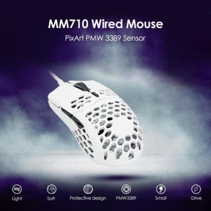 Cooler Master MM710 USB Wired 53G Gaming Mouse 16000 DPI Adjustable Optical Sensor Honeycomb Shell Weave Cable Design Mouse