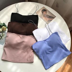 Beauty Vest Machine Camisole Women's Sexy Wear Take Sleeveless Cropped Spaghetti Shoulder Bandeau