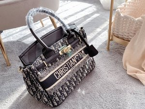 2021 Fashion new hot style shopping basket embroidered canvas bag luxury high quality handbag bag women handbag