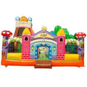 الصف التجاري نفخ سحر الجنة مدينة المرح ملون PVC ماجيك القلعة ملاهي للأطفال الإيجارات التجارية مع منفاخ الهواء