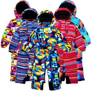 Children's Winter 2020 Outdoor One-piece Ski Suit, Wind and Snow, Plus Velvet Thickening, Suitable for 3-10 Years Old.