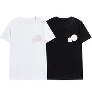 2020 New Luxur 자수 Tshirt 패션 맞춤형 남성과 여성 디자인 T 셔츠 여성 Tshirts 고품질 검정색과 화이트 100 % cott