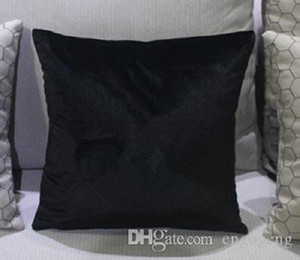 Coussin de coussin de velours de style classique 45cm 60cm sans oreiller faux strass motif de mode de bonne qualité couvre-cas