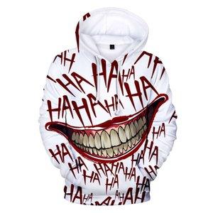 LuckyFridayf Haha Joker Yumuşak Pop Hoodies Kadınlar / Erkekler Sıcak Uzun Kollu Baskı Tişörtü Hoodie Moda Giysileri