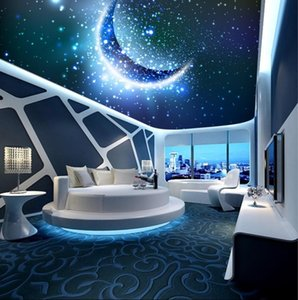 Photo Wallpaper Living Room Bedroom KTV Ceiling Murals Wallpaper Fantasy Starry Sky Stars Living Room Ceiling