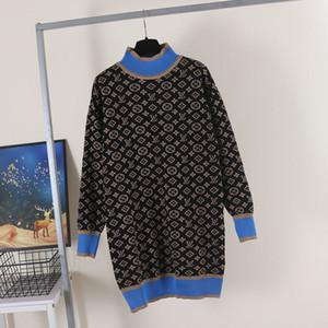Kadınlar Uzun Kazak Elbise Kış Kazak Kukuletası Boyun Triko Yün Karışım Üst Rahat Kıyafet Maxi Örme Bluz Elbise Örme Top-3
