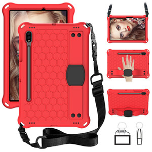 Kids Case for Samsung Galaxy Tab S7 2020 Shockproof Cover with Shoulder Strap T870 T875 EVA Case