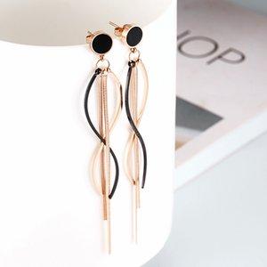 2020 New round Brand Long Fringe Earrings Fresh Long Eardrop Earrings Female Accessories Source Factory