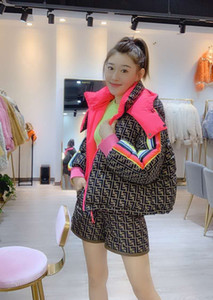 Mens desinger jaquetas mulheres inverno revestem de moda com capuz ff jaqueta de impressão da mulher de algodão jaqueta Europa América acolchoado casaco de comprimento médio