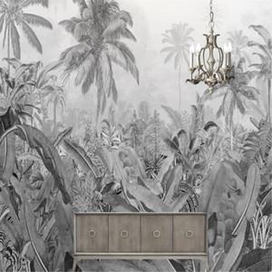 Wallpaper Multi-size AL-MULK Custom Wallpaper Mural Self-adhesive Black Leaf 3D Image Art Abstract Realistic Home Decoration Hot Products