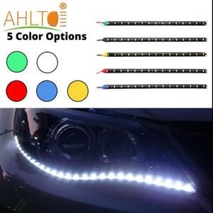 2pcs Waterproof Car Auto Decorative Flexible LED Strip HighPower 12V 30cm 15SMD Car LED Daytime Running Light1