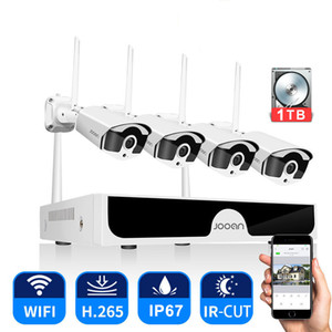 CCTV System Wireless Surveillance System Kit 3MP Home Security Camera System Outdoor WIFI Cameras Set Video Audio Recording LJ201205