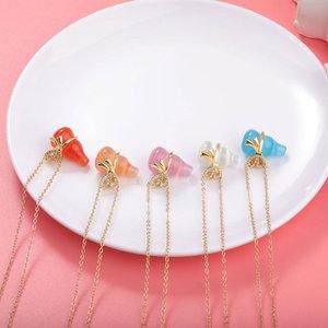 Regalos del partido creativo colorido de la cadena Opal Calabaza Collares clavícula Forma señora pendiente del arco de calabaza collar de la joyería del encanto del ahogador Lucky diseñador