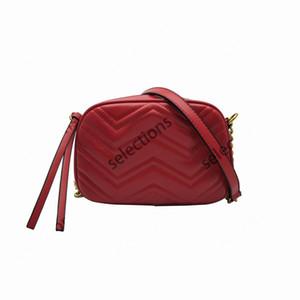 2020 Kadınlar Marmont Messenger Çanta Uzun Zincir PU Deri Omuz Çantaları Antik Altın Zincir Bel Çantaları Tote Hobos