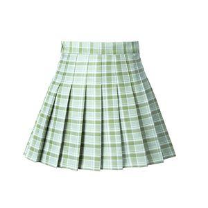 High Waist Short Skirt Korean style sweet plaid skirt Plaid Skirts Mini Cute Japanese School Uniforms Ladies Jupe Kawaii Skirt Saia Faldas