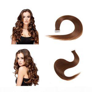 Peruvian Brazilian Inaian Hair Tape In Human Hair Extensions Mac Makeup Extensions De Cheveux For Woman