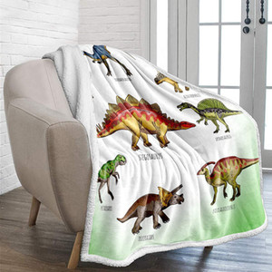 Blanket Wolf puppy dinosaur blanket Adult warm sheep 3D animal wolf print bed sofa and sofa flannel blanket wholesale