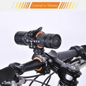 Bicycle digital compass headlamp frame holder for VTT equestrian equipment
