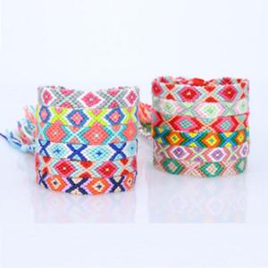 24 Styles Colorful Handmade Braided Thread Bangle Woven Friendship Bracelets Bracelet for Wrist Ankle Assorted Styles Kimter-C380FZ