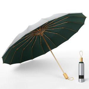 Tre ombrello pieghevole titanio argento rivestimento solare protezione solare sunny piovoso dual-usad women umbrella super forte antivento UPF50 +