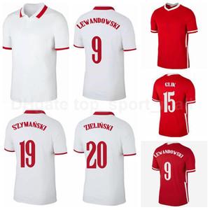 Football 9 Lewandowski 23 Jersey Piatek 11 Grosicki 10 Krychowiak 7 Zielinski 20 Piszzek Milik Jédrzejczyk Kits de chemise de football Glik B-L