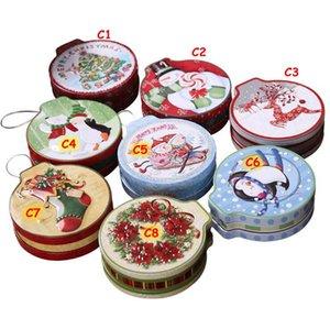 Contenitore di regalo di Natale Contenitore di latta Scatola di latta Festa di nozze Candy Cookie Biscotti Biscotti Caso di Biscotto Contenitore Decorazione di Natale per la casa GWE4355
