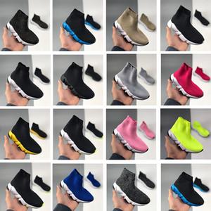 Barato París velocidad triple-s zapatos vintage niños muchacha muchacha juventud niños casual viejo zapatillas zapatillas de deporte negro blanco rojo plana planos planos