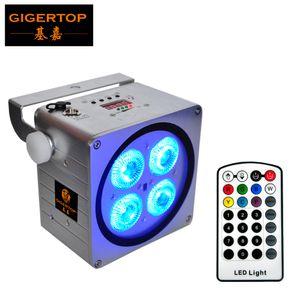 Forma Gigertop TP-B08 nuovo argento Colore involucro 4x18W RGBWA UV 6IN1 dell'interno senza fili della batteria ha condotto la luce par Piazza Wall Washer