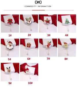 Christmas New Year Gift Cartoon Sweater Cardigan Pin Accessories Cute Elk Christmas Tree Hat Brooch 10 Options Available
