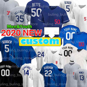 27 Trevor Bauer 5 Corey Seager 50 Mookie Betts Baseball Jerseys Julio Urias Walker Buehler Cody Bellinger Los Justin Turner Custom Angeles