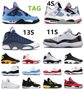 Jumpman 11 11s 25º aniversário 45 Bred Men Sapatos de basquete Cat 4 13 Gray Gamma Legenda Ginásio Vermelho Gama Sports Sneakers