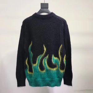 2018 PRD flame sweater DOUBLET sweater Fleece Fashion Men Women Couple Fashion Outerwear Sunset free ship
